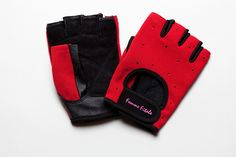 Femme Fitale Fitness Red with Swarovski crystal fitness gloves!