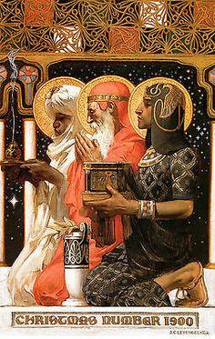 1900 JC Leyendecker, Christmas, Three Wise Men,