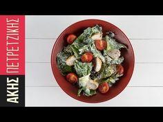 Σαλάτα με κοτόπουλο και σως γιαουρτιού | Kitchen Lab by Akis Petretzikis | Part 1 - YouTube Avocado Toast, Sprouts, Food And Drink, Diet, Vegetables, Sweet Dreams, Cooking, Breakfast, Foods