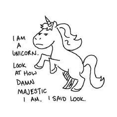 I am a unicorn...  @Dawn Cameron-Hollyer Cameron-Hollyer Bell-Baer    Us Unicorns gotta stick together LOL