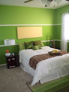 """Sherwin-Williams interior paints color """"Overt Green"""". This will be the accent wall color behind the sofa."""