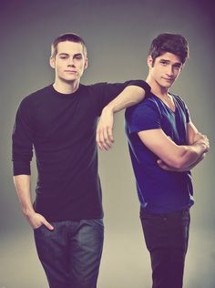 "Dylan O'Brien & Tyler Posey. Teen Wolf.  We will call these two, ""boy crush.""  Too young, but still handsome as can be."