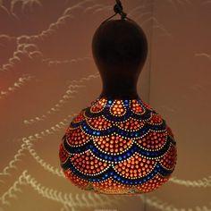 Su kabak abajur | SU KABAK ABAJUR, DEKORATİF LAMBA, GOURD LAMP