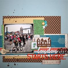 scrapbook page with amy tangerine supplies by @Shimelle Laine