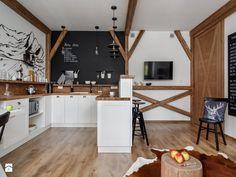 Apartament Granitica Platinium 8, Zakopane - Średnia otwarta kuchnia w kształcie litery u z wyspą, styl skandynawski - zdjęcie od www.tatrytop.pl