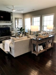 modern living room ideas are available on our internet site. Cozy Living Rooms, Living Room Modern, Home Living Room, Living Room Layouts, Small Living, Beautiful Living Rooms, Family Room Layouts, Living Room Ideas, Modern Farmhouse Living Room Decor