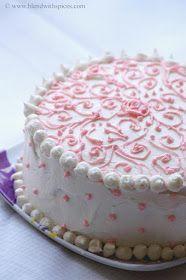 Indian Cuisine: Eggless Vanilla Cake with Vanilla Buttercream Frosting - Eggless Birthday Cake Recipes