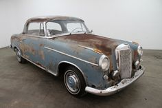 1957 Mercedes Benz 220S Ponton Coupe, blue with beige interior, has been sitting for many years and will make an excellent car to restore. For $19,750  If you have any additional questions Please call 310-975-0272