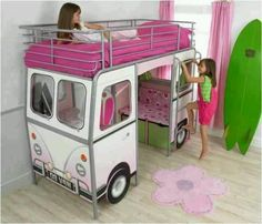 Girl Bunk Beds with Slide Play spaces Dream rooms and Bunk bed