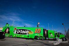 Danica Patrick  #10 Go Daddy.com hauler