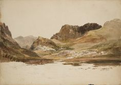 Joseph Mallord William Turner, 'Y Garn with Snowdon in the Distance, from above Llyn Nantlle' 1799