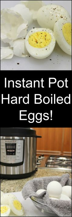 Easy. So EASY! Get perfect Hard Boiled Eggs every single time with the Instant Pot! Here's how to do it! (And where to get one!)