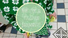 Bademantel für Kinder nähen. Anleitung inklusive. (Tutorial on how to sew a bath robe for children)