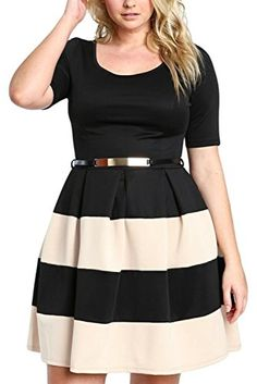 Chase Secret Plus Size Skater Dress. Fun party dress. https://www.amazon.com/Chase-Secret-Womens-XXX-large-Apricot/dp/B01LXU0Q8O/ref=as_li_ss_tl?ie=UTF8&qid=1487767771&sr=8-6&keywords=plus+size&linkCode=ll1&tag=pintr20-20&linkId=676963ae5ffd8bf57e484428212ff41d