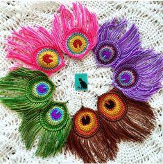 Watch The Video Splendid Crochet a Puff Flower Ideas. Phenomenal Crochet a Puff Flower Ideas. Crochet Earrings Pattern, Crochet Jewelry Patterns, Crochet Flower Patterns, Crochet Accessories, Crochet Designs, Crochet Flowers, Marque-pages Au Crochet, Crochet Crafts, Yarn Crafts