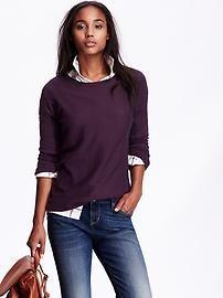 Lightweight Drop-Shoulder Sweater
