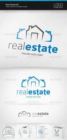 Real Estate Logo Building Logo Design Template by artnook. Unique Logo, Modern Logo, Logo Design Template, Logo Templates, Business Logo Design, Branding Design, Logan, Logos Photography, Logos Vintage