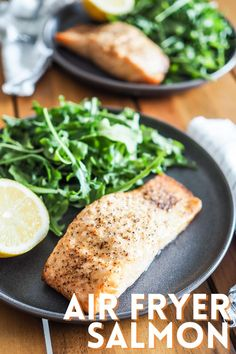 Air fryer salmon is one of my favorite quick and easy weeknight meals. It's perfectly cooked and tender every time. Dinner in 15 minutes! | thetravelbite.com | #salmon #EasyDinner #AirFryer Best Air Fryers, Easy Weeknight Meals, Salmon, Cooking, Easy Weeknight Dinners, Kochen, Atlantic Salmon, Brewing