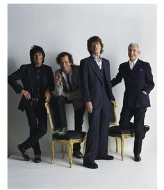 Mick, Keith, Charlie & Ronnie: The Rolling Stones http://twitter.com/rollingstones  I'll never forget meeting Charlie.  I was working in the men's dept at the original Neiman Marcus-Dallas.  He came in and I sold him some beautiful Turnbull & Asser shirts.  - klm