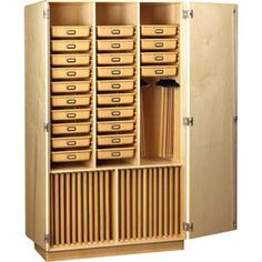 This could make my built-in cabinets SOOOOO much more efficient for storing my art supplies!