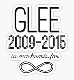 Glee Forever Pegatina