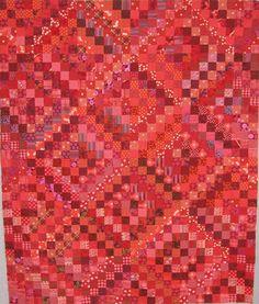 RED trip around the world.... Bonnie Hunter's pattern   xxxx