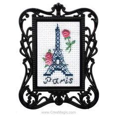 Mini kit RTO à broder tour eiffel Tour Eiffel, Dimensions Cross Stitch, Yarn Sizes, Craft Materials, Cross Stitch Kits, Embroidery Techniques, Crochet Yarn, Cross Stitching, Printing On Fabric