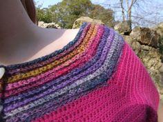 free crochet top pattern, treble stitch, double crochet stitch, single crochet stitch, free pink top, simple free pattern, Ravelry free pattern crochet