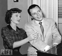Betty White and Frank Sinatra