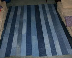 Nancy's Couture: Jeans Quilt {The Back Side}