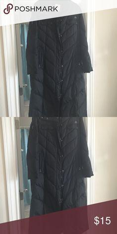 J-Lo Long down fill coat Black long winter coat in great condition JLo Jackets & Coats