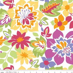 """1/2 Yard - Riley Blake Designs """"Extravaganza"""" by Lila Tueller Designs, pattern L4640 Multi-Main by RainyDayJayne on Etsy"""