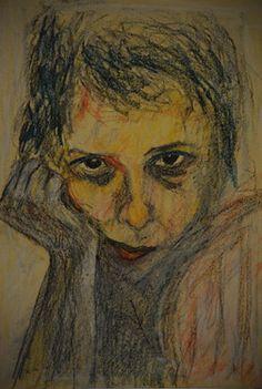 "Saatchi Online Artist Daniela Bartolomeoli; Drawing, ""self portrait"" #art"
