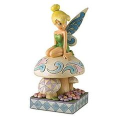 Enesco Disney Traditions by Jim Shore 4013260 Tinker Bell Kneeling on Mushroom Garden Statue Tinkerbell And Friends, Peter Pan And Tinkerbell, Disney Fairies, Tinkerbell Toys, Disney Home, Disney Art, Walt Disney, Disney Stuff, Jim Shore Christmas