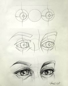 Eye Drawing Tips - interesting... looks like a robot in the beginning to me.