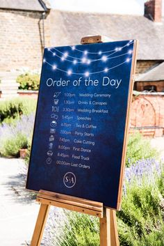Chic and stylish dark blue bespoke order of service board for same sex Dodmoor House wedding. With constellation design © Jessica Grace Photography Order Of The Day Wedding, Wedding Order Of Service, Jessica Grace, Galaxy Wedding, Starry Night Wedding, Bridesmaid Getting Ready, Wedding Images, Wedding Ideas, Flower Boutique