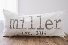 $25 Last Name Personalized 12 x 24 Lumbar  by ParrisChicBoutique