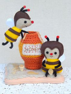 Honey Bees Felt Art Doll by MsBittyKnacks on Etsy, $25.00