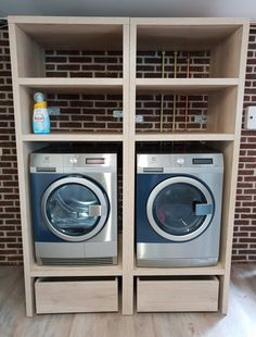 Modern Laundry Rooms, Laundry Room Layouts, Laundry Room Organization, Laundry Room Design, Laundry In Bathroom, Küchen Design, Patio Design, Laundry Powder, Self Build Houses