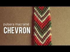 Cómo hacer pulseras de macramé Chevron o flecha paso a paso