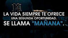 """La Vida Siempre te Ofrece una Segunda Oportunidad Se llama """"Mañana"""" >.<"""