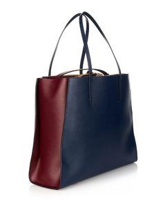 Marni Nine to Five bi-colour leather tote