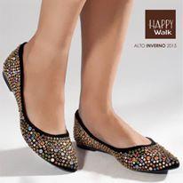 Muito glamour e conforto nessa sapatilha! #HappyWalk #AltoInverno2015 #Sapatilhas