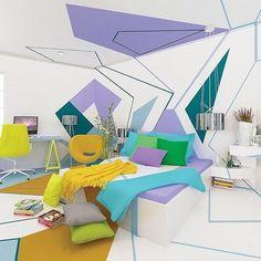 Easy Dorm or Bedroom ideas to DIY: Avoid A Patterned Bedspread