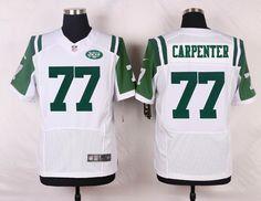 New York Jets #77 James Carpenter ELITE White Team Color NFL Jersey