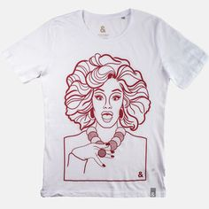 Browse Panti White T-Shirt (XS) and more from Jill & Gill at Wolf & Badger - the leading destination for independent designer fashion, jewellery and homewares. Swing Tags, Ink Illustrations, Badger, Boss Lady, Screen Printing, Tee Shirts, Colours, T Shirts For Women, Mens Tops