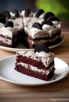 Vegan Sweets, Healthy Sweets, Good Food, Yummy Food, Oreo Cake, Food Test, Dessert Drinks, Vegan Cake, Food Cakes