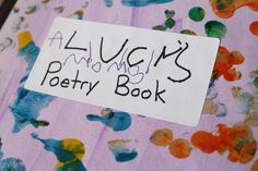 Poetry Journals {Poetry for Children} - Quotes Poetry Journal, Book Labels, National Sleep Foundation, Wonderful Pistachios, Air Popped Popcorn, Art Projects For Teens, Eating Before Bed, Artist Quotes, Poetry Books
