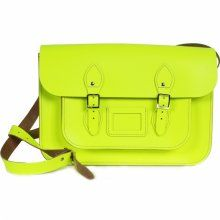 'Tommy' Neon Yellow  14 inch Tom Brown Satchel £78