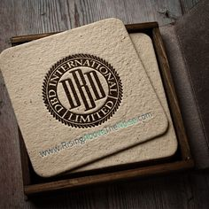 Our #logo showcased as a coaster #letterpress #typography #risingabovethenoise #davidbrier #design itsmystiNice!!!!